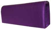 Quality Satin Evening Clutch Bag-Purple