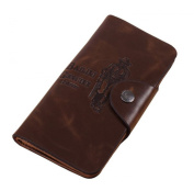 KISS GOLD(TM) Fashion Archaized Printing Mens' Wallet Case Purse with Button Closure