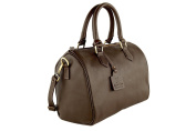Anna Cecere - Bauletto Bag - real Genuine leather - Made in Italy - Brown