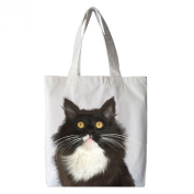 Yngve the Cat Cotton Tote Shopping Bag