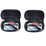 2 PRS Southern Seas Mens Womens Folding Reading Travel +5.50 Glasses w Case 11 Strengths Available