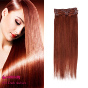 SUNMAY Remy Clip in Human Hair Extensions - Full Head of 46cm inch human hair -High Quality Remy Hair