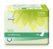 Tena Lady Normal - Highly Absorbent Insert - Odour-Neutralising - For Light to Moderate Bladder Weakness - Pack of 28