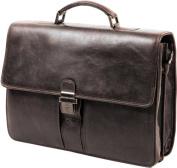 Gérard Henon Satchel Outland Calfskin Leather Full Grain Effect GH 8326 Antique-Style