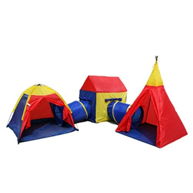 Boys Girls Large Giant Play Tent Tunnel Set Childrens Kids