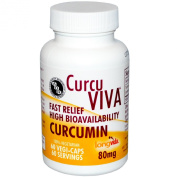 Advanced Orthomolecular Research AOR, CurcuViva, Curcumin, 80 mg, 60 Veggie Caps