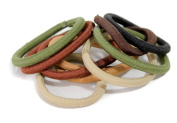 Pack of 10 Snag Free Natural Coloured Hair Elastics/Ties Bobbles