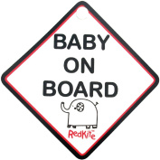 Red Kite Baby On Board Sign, Hello Ernest.