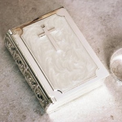 Silver Plated and Pearlescent Bible Trinket Box
