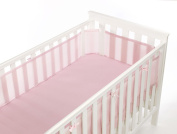 BreathableBaby Safe Mesh Cot Liner Bumper - 4 Sided Various Baby Blue