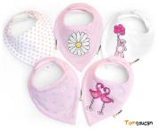 Tomtoucan Baby Bandana Bibs - Set of 5 Designs