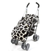 Genesis Universal Cow Print Soft Fleece Footmuff Cosytoes & Buggy Liner