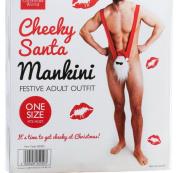 Cheeky Secret Santa Xmas Mankini Adult Outfit Christmas Gift For Him Boyfriend