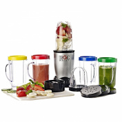 Magic Bullet Personal Family Smoothie Blender & 4 Travel Mugs NB-RL008A-02