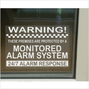 6 x Monitored Alarm System Window Stickers-130mm-24hr Security Warning Signs for Home, House, Flat, Business, Property-Self Adhesive Vinyl Signs