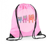 Girls Swim Bag, Pink Gym Bag, Girls PE bag, Elephant Bag