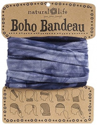 Natural Life Bandeau Tie Dye Band, Navy
