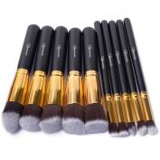Taotaole 10 PCS Professional Makeup Set Pro Kits Brushes Makeup Cosmetics Brush Tool