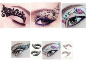 Hitece 10 paires Temporary Eye Tattoo Transfer Eyeshadow Stickers Eyeliner