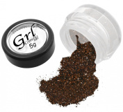 Grl Cosmetics Cosmetic Glitter Makeup for Face, Eyes, Lips, Nails and Body - GL26 Tootsie Roll, 5 Gramme Jar