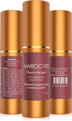 Maroc100 HYALURONIC EYE & LIP Anti Ageing Cream- 86% Organic Best Triple Remedy-Instantly Refresh + Fight Dark Circles Bags & Wrinkles Lift & Plump With Super Lavender Rooibos & Vitamin E