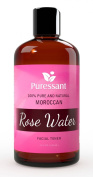 100% Pure Moroccan Rose Water Facial Toner and Cleanser Naturally Hydrates and Cleanses Skin
