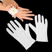 Gloves Legend White Cotton Moisturising Hand Spa Gloves - 1 Pairs