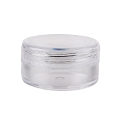 Houseables 5 Gramme Jar, 5 ML Jar, 25 pcs, BPA Free, Cosmetic Sample Empty Container, Plastic, Round Pot Clear Screw Cap Lid, Small Tiny 5g Bottle, for Make Up, Eye Shadow, Nails, Powder, Gems, Beads, Jewellery