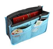 Jackie Blue Handbag Pouch Bag in Bag Organiser Insert Organiser Tidy Travel Cosmetic Pocket