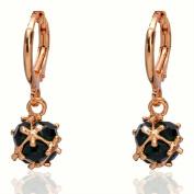 Julycoffee 18k Gold Plated Chic Emerald Green Gem Dangle Earrings Jewellery Cb1129