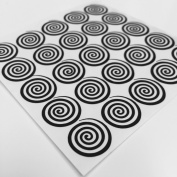 Twinkled T Original Cyclone Swirl Whirlpool Nail Vinyls, Guides, Stencils, Stickers for Easy Nail Art - Sheet of 50