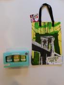Trader Joes Bath Salt Trio And NY Style Reusable Shopping Bag