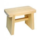 Hinoki Pure Wood Medium Size Bath Stool H200 Type