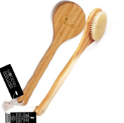 The PREMIER Dry Skin Brush - Natural Boar Bristle & Bamboo Bath & Body Brush - Experience the Skin Care Benefits of Dry Brushing to Reduce Cellulite, Boost Radiance, Reduce Signs of Ageing & More - Free Skin Brush Visual Instruction Guide with Purchase