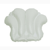 HomeCrate Shell Spa Inflatable Bath Pillow with suction cups White