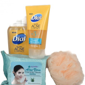 Dial Oil Free Deep Cleansing Acne Control Bundle of 4 Items