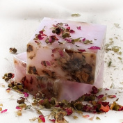 Newest trent Handmade Rose Flower Essential Oil Nature Facial Soap With Rose Petals