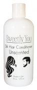 Unscented Silk Hair Conditioner by Sweetly You - 470ml Leaves and healthy shine, includes wheat protein, silk amino acids, Vitamin Pro B and E. Balances PH