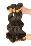 Unprocessed Virgin Brazilian Human Hair Body Wave Remy Hair Extensions Weft Weave Grade 6A #2 Dark Brown 4 Bundles 400g
