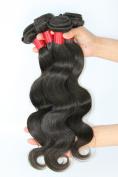 Unprocessed Virgin Brazilian Human Hair Body Wave Remy Hair Extensions Weft Weave Grade 6A #1B Off Black 4 Bundles 400g