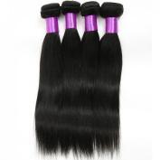Golden Rule® Virgin Brazilian Human Hair Extension STW Straight Wave, Unprocessed 100% Real Human Hair Weave, Mix Length 30cm - 80cm , 6 A Grade, Natural Black 1B