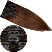 s-noilite®130g-160g Thick Clip in 100% Remy Human Hair Extensions 41cm - 60cm Real Double Weft Full Head 8 Pieces 18 clips Long Straight for Women