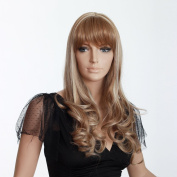 Hair Weaves Long Blond Women Hair Wig with a Bang Kanekalon Wig European Wigs and More Female Wigs 3295b