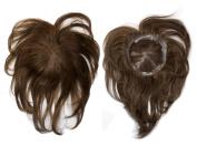 100% Human Remy Hair Top Pieces Top Closure VOLUMAX3 10~28cm Colour#4 - Dark Brown