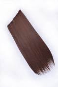 Lycoris 60cm Natural Lady Stylish Long Straight Clip-on Hair Extension Wigs Hairpieces