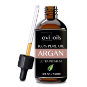 #1 Organic Argan Oil For Face, Hair, Skin, & Nails - PREMIUM 100% Pure Moroccan Cold Pressed - Anti-Ageing & Anti-Wrinkle - Great For Acne, Stretch Marks, Split Ends, Dry Scalp, Body - Perfect For Lotions, Moisturisers, Serums & More - 120ml