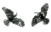 Black Stone Gothic Ravens Hair Clips Deathrock Jewellery