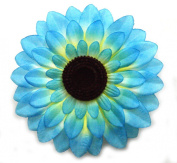 1 Pc of 14cm Blue Sunflower Hair Clip - Sunflower Hair Accessories, Flower Hair Clips For Women - Flower Girl Hair Accessories For Short Hair And Hair Accessories For Long Hair