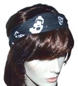 GANZ Haunted Stretchy Skull Black Multi-way Headband with Sequin-