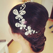 #36 Silver Comb Crystal Diamond Bride Bridal Wedding Accessory Hair Head Band Wear Rhinestone Jewellery Headdress Headband Tiara Coronal Chain
